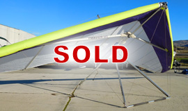 Click here to view an enlargement - Freedom 150 hang glider - FOR SALE