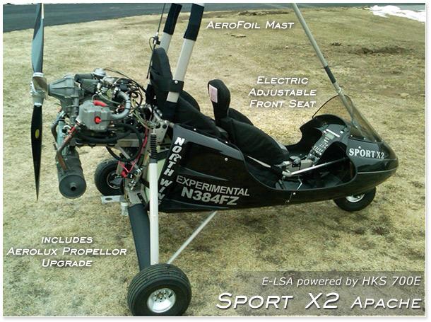 North Wing Design 183 Sport X2 Apache 183 Light Sport Trike