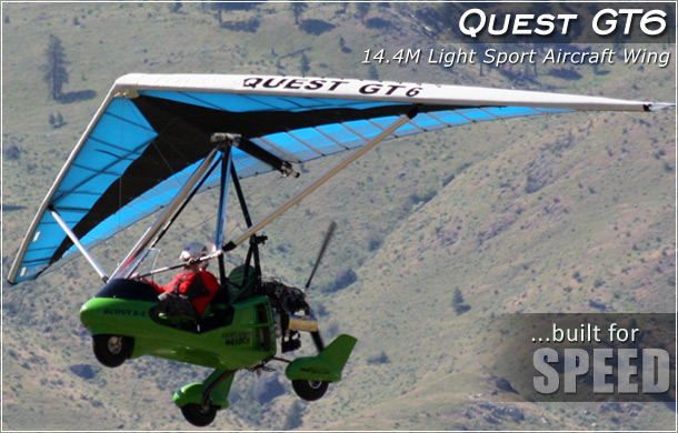 North Wing · Quest GT6 14.4M weight shift control Light Sport Aircraft Wing