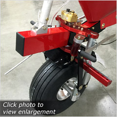 Click here to view an enlargement - NEW Triple-Clamp Front Fork for North Wing light sport aircraft