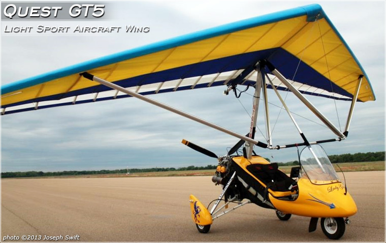 North Wing QUEST GT5 wing mounted on Joe Swift's light sport aircraft 'Lady Grace'